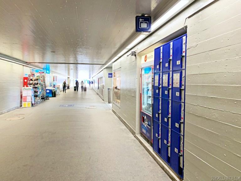 Luggage deposit at Landquart train station