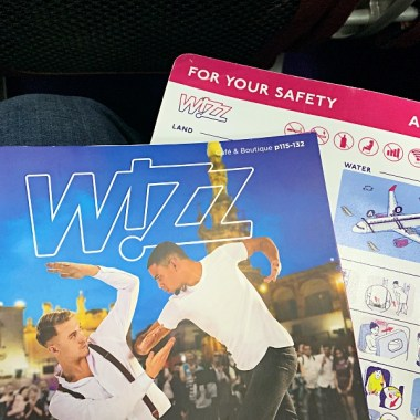 Wizz Cafe onboard snack drink