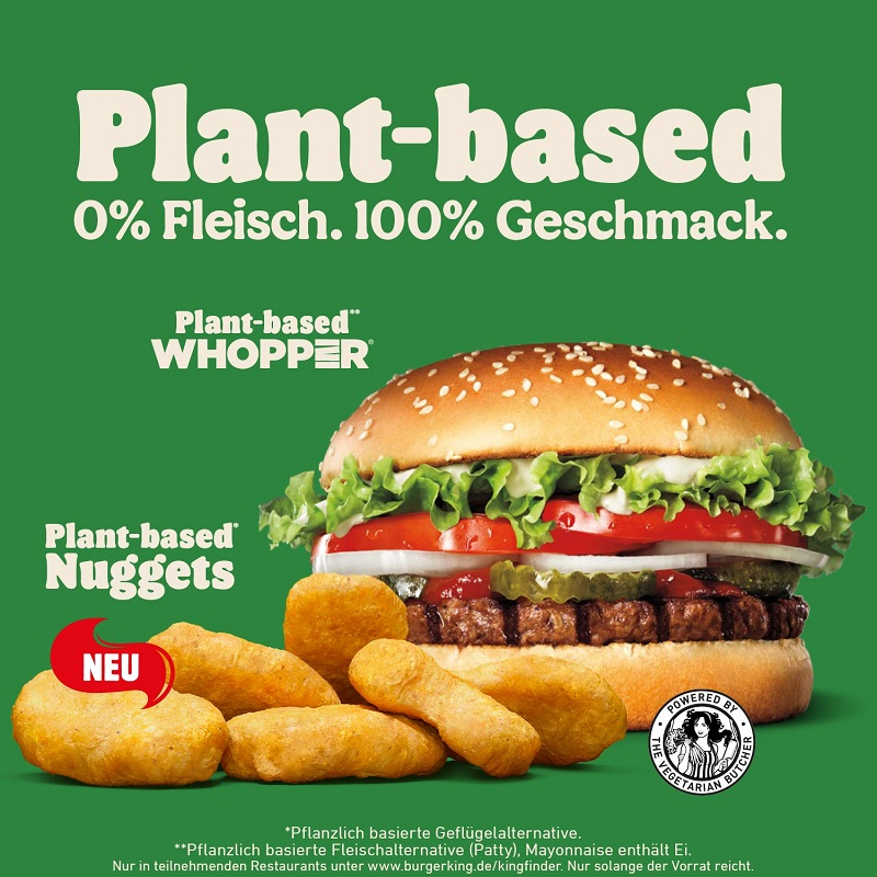 Plant-based Nuggets Burger King Germany joydellavita