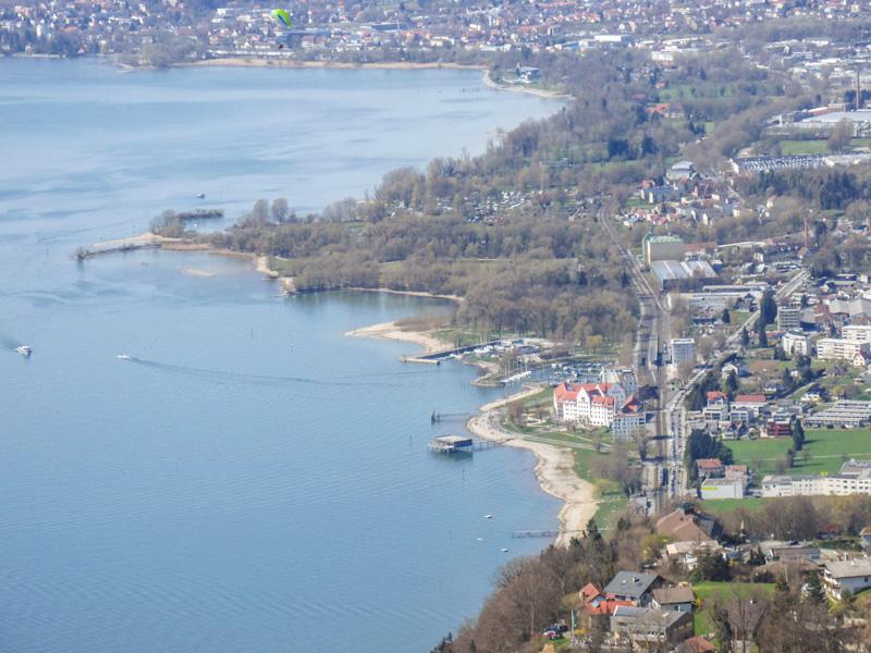 hard lochau vorarlberg parking bahnhof train station aerial photo travel blog joydellavita