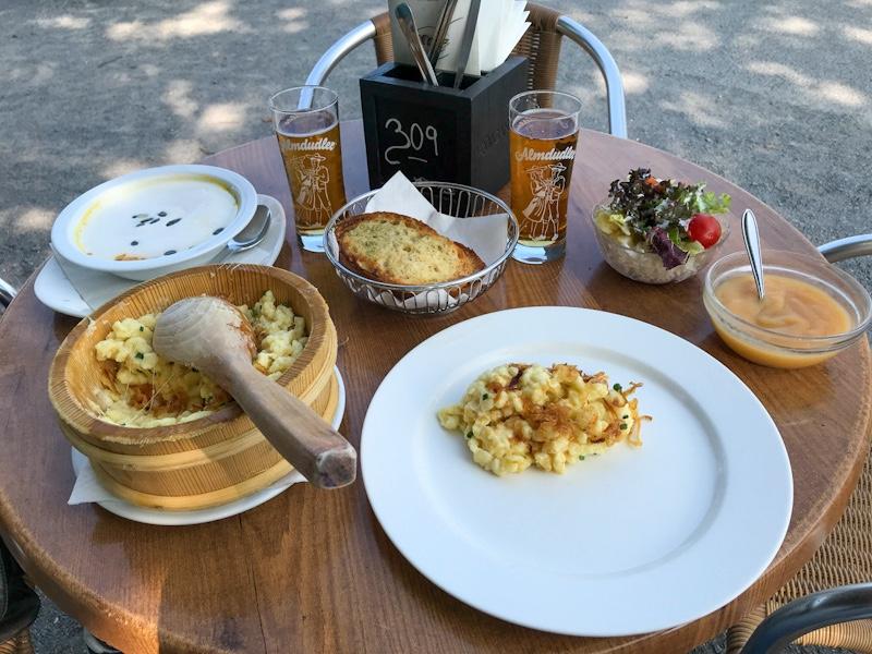 kaeseknoepfle apple sauce wirtshaus am see bregenz vorarlberg blog joydellavita