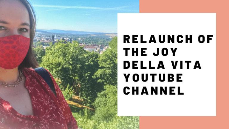 It's official: Relaunch of the Joy Della Vita YouTube Channel