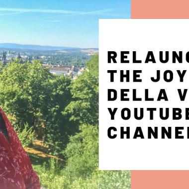 Relaunch JoyDellaVita Travelblog YouTube Video Header