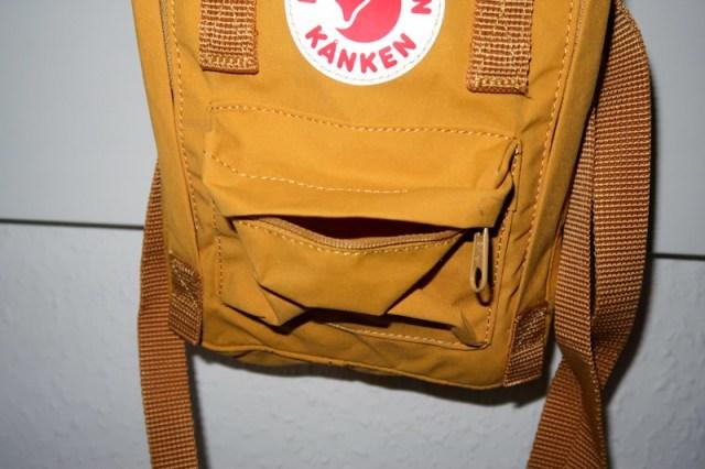 small front pocket of the fjallraven kanken sling