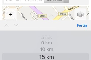 15 km Radius Germany