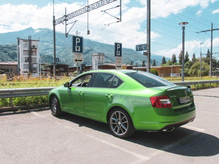 the best Heididorf parking in Maienfeld, Graubuenden