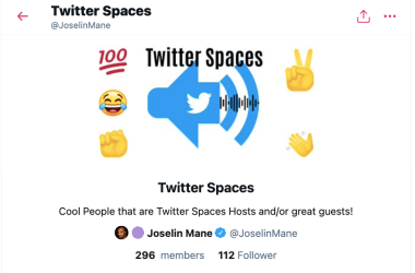 Twitter Spaces Hosts Liste Twitter Joselin Mane Blog JoyDellaVita