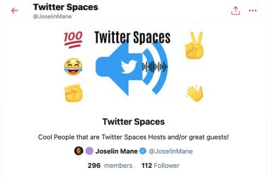 Twitter Spaces Hosts Liste Twitter Joselin Mane Blog JoyDellaVita