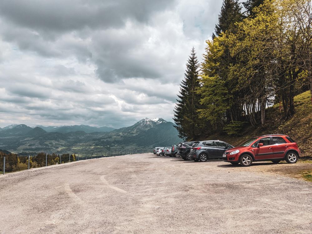 parking boedele schwarzenberg hiking bregenzer forest Vorarlberg travel Blog joydellavita