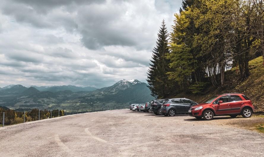 Where to park at Bödele / Bregenz Forest for hikes