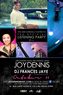 93.3 The Beat's DJ Dr. Doom invites you to #JoinTheListeningParty for @JoyDennisMusic