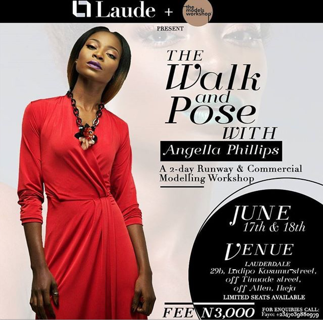 The walk and pose by Angellla Phillips-IModelAfrica
