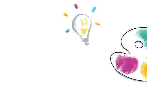La créativité symbolisée par une palette de peinture