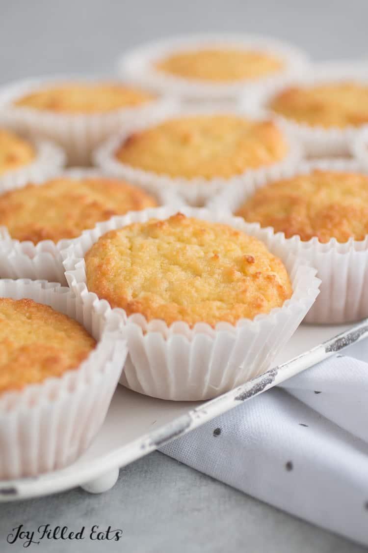 Sour Cream Vanilla Keto Cupcake