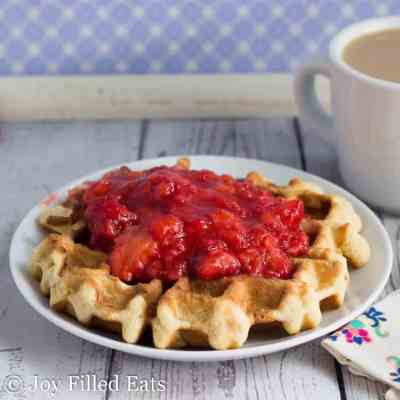 Coconut Waffle with Strawberry Sauce – THM S