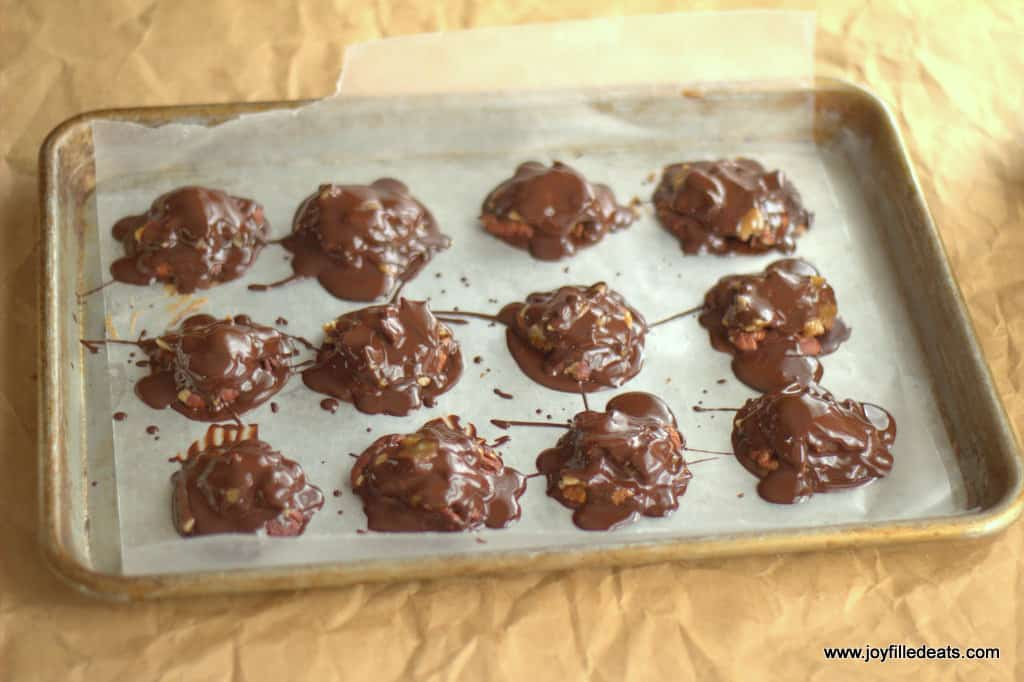 Toasted Coconut Toffee Pecan Turtles - Low Carb, Sugar Free, Grain Free, Gluten Free, THM S