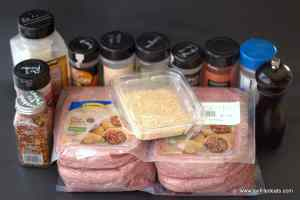 Freezer Friendly Taco Meat - Low Carb, Gluten Free, Grain Free, THM S