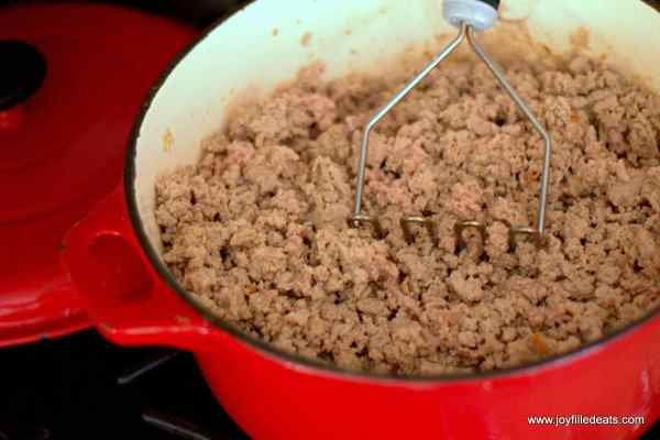 Freezer Friendly Taco Meat - Cook once for 6 dinners! This taco meat is great for when you just don't feel like cooking. It is low carb, gluten & grain free, THM S & reheats in minutes.
