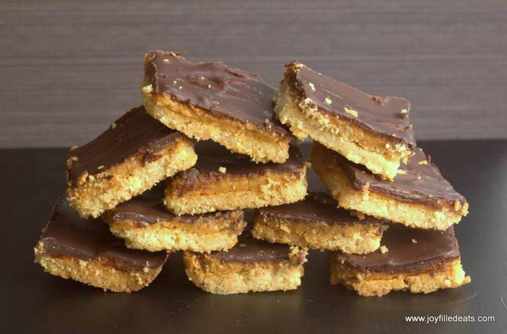 Tagalong Cookies Simplified and Ready in under an hour! All the chocolate peanut buttery goodness but grain, gluten, & sugar free, & THM S.