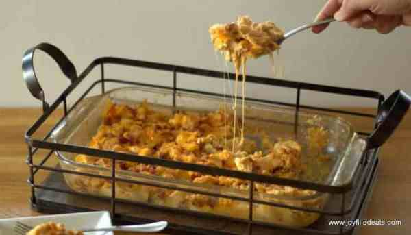 Another delicious low carb, gluten and grain free, THM friendly casserole has arrived. This has the smoky flavor of barbecue, bacon, and cheddar.