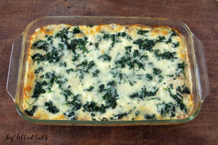 the baked white lasagna