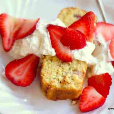Keto Pound Cake Strawberry Shortcake Low Carb Gluten-Free