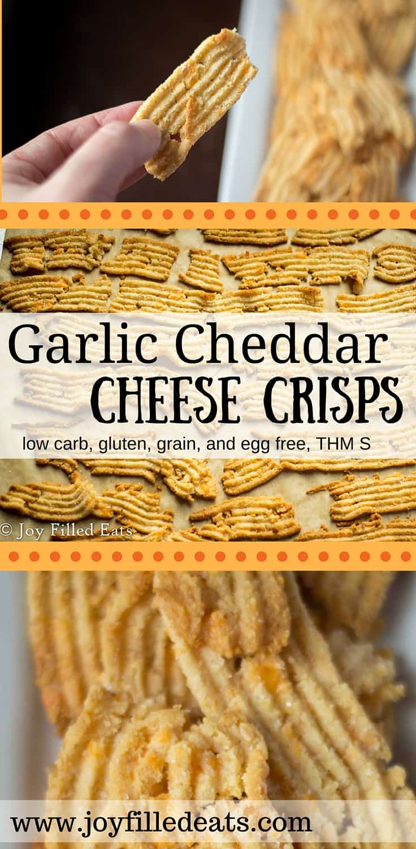 Cheddar Garlic Cheese Crisps - Low Carb & Gluten Free
