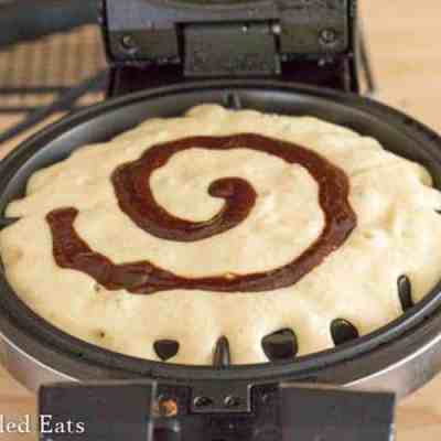 Cinnamon Roll Waffle for One Keto Low Carb Gluten-Free