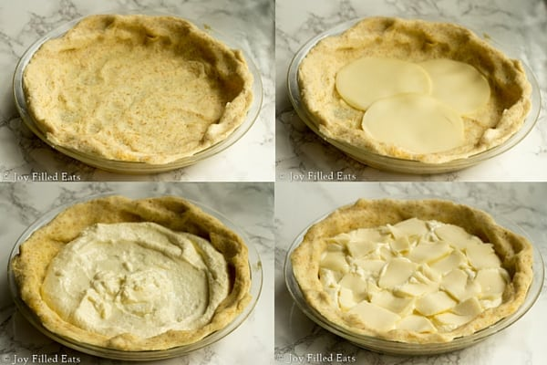 Cheese Calzone Pie - all the delciousness of a cheese calzone in a compact package, low carb, THM S, gluten/grain free
