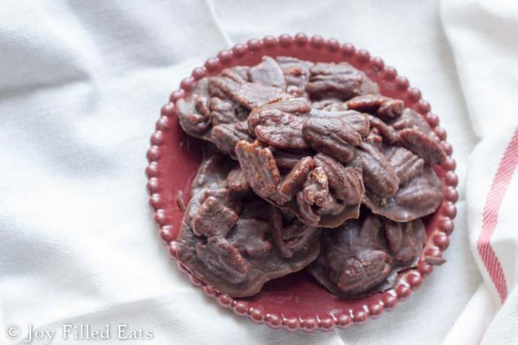 Chocolate Pecan Pralines - Sugar Free, Low Carb, THM S