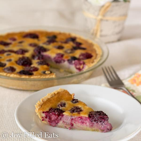Blackberry Custard Pie - Low Carb, Sugar Gluten Grain Free, THM S