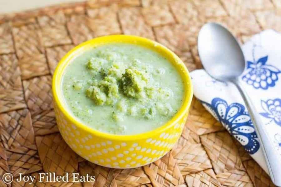 Lemon Parmesan Broccoli Soup - Low Carb, Low Fat, THM FP
