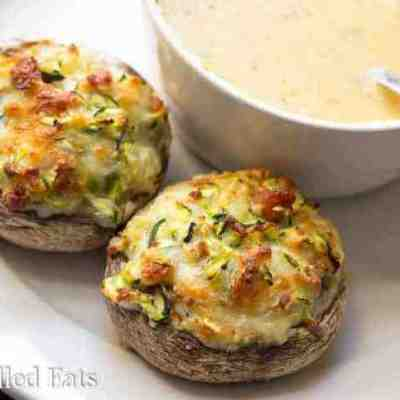 Stuffed Mushrooms with Bacon & Cheese Low Carb Keto