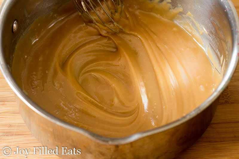 Caramel Peanut Butter Payday Cake - Low Carb, Grain Free, THM S