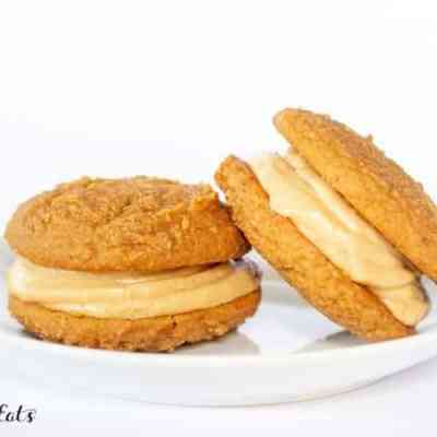 Peanut Butter Whoopie Pies Low Carb Keto THM Cookies