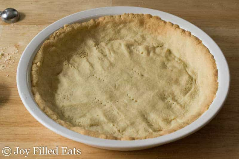 Easy Peasy Pie Crust - Press In or Roll It Out, Grain Free, Low Carb, THM S