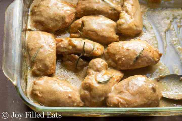Sweet Maple Mustard Chicken - Low Carb, Sugar Free, THM S