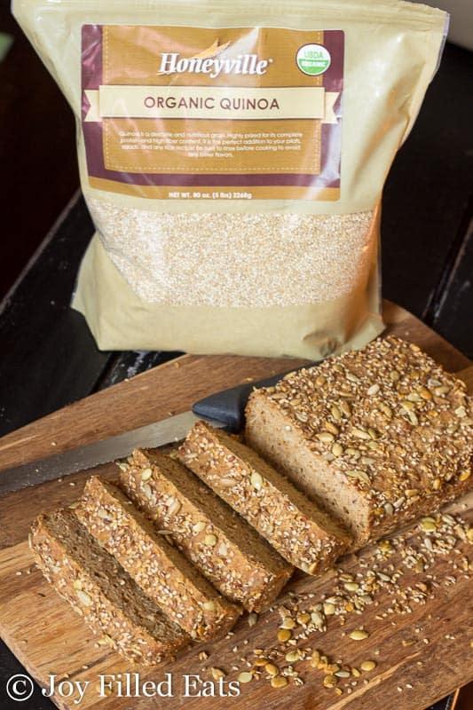 Sprouted Quinoa Bread - Low Fat, Gluten Free, THM E