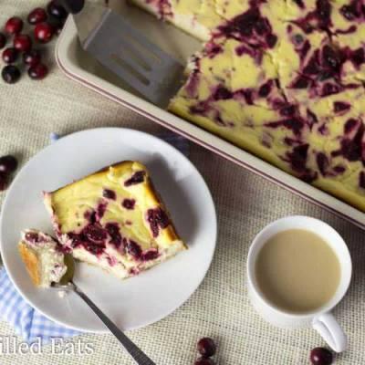 Cranberry Swirl Cheesecake Bars