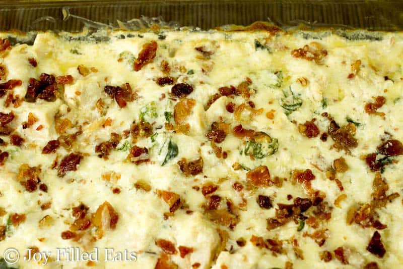 Jalapeno Popper Chicken Casserole - Low Carb, Grain Free, THM S