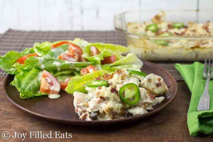 Jalapeno Popper Chicken Casserole – Low Carb, THM S
