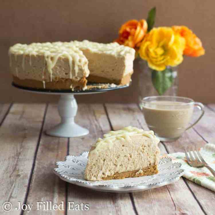 White Chocolate Peanut Butter Cheesecake - Low Carb, Sugar Free, THM S