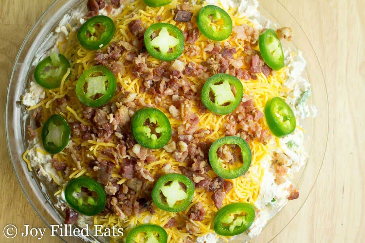 Jalapeno Popper Dip - Low Carb, Grain Free, THM S