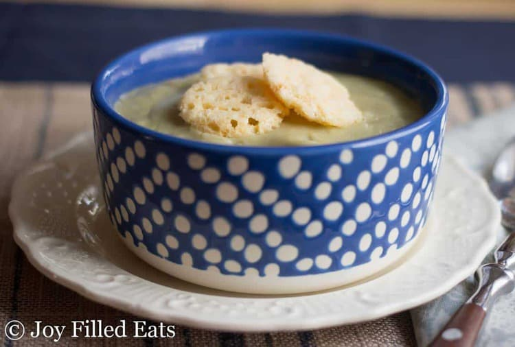 Creamy Garlic Soup - Low Carb, Low Fat, Dairy Free, Fuel Pull