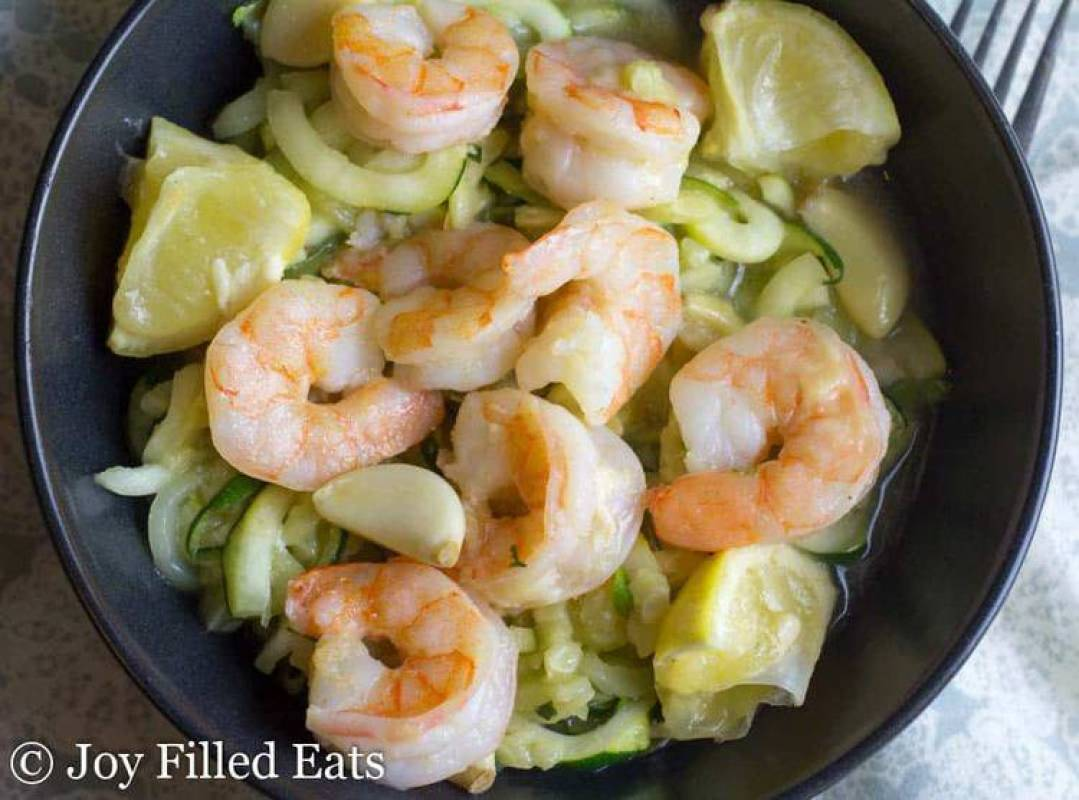 Baked Shrimp Scampi - Low Carb, Grain Free, THM S