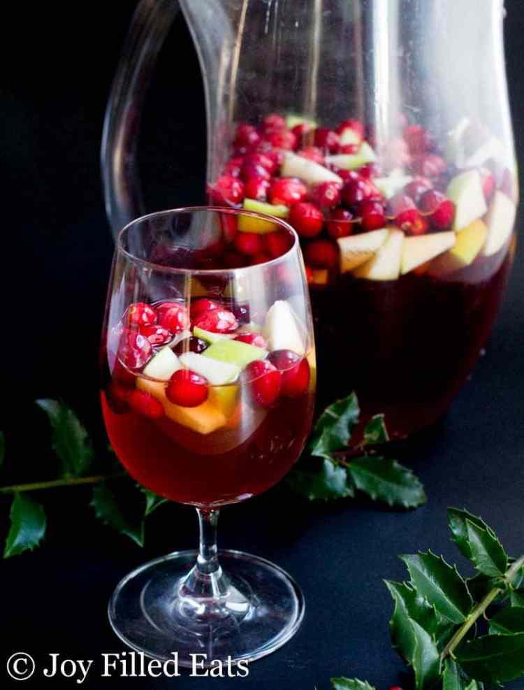 Apple Cinnamon Sangria - Low Carb, Sugar Free, THM Friendly