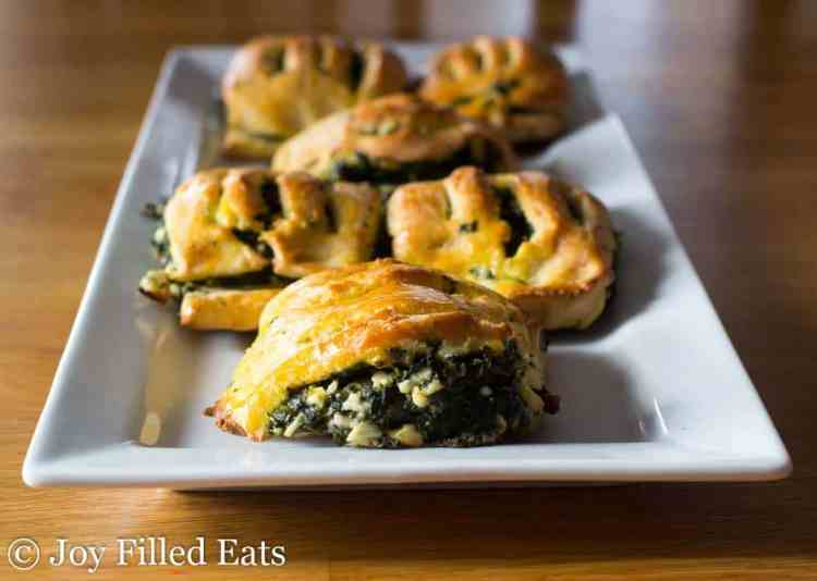 Spinach & Feta Pastries - Low Carb, Grain Free, THM S