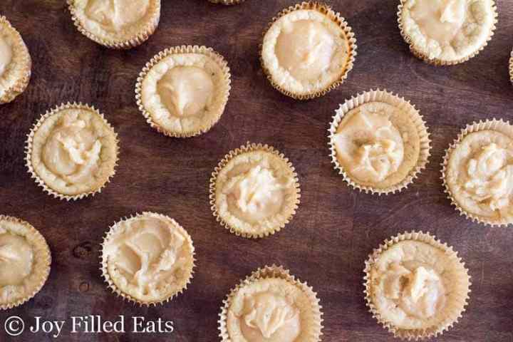 Warm Chai Pancake Muffins topped with chai glaze