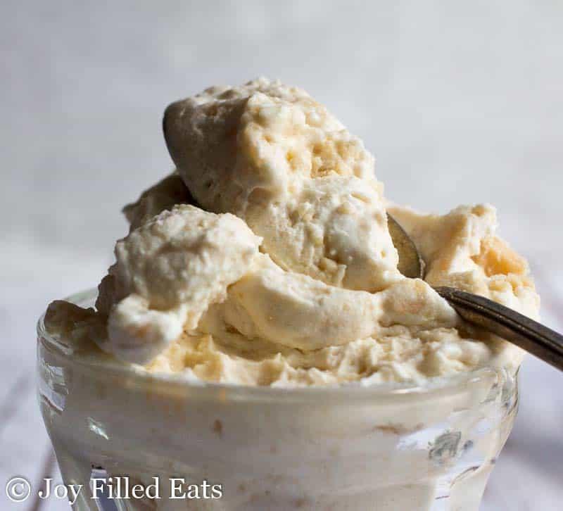 No Churn Salted Caramel Ice Cream - Low Carb, Sugar Free, THM S