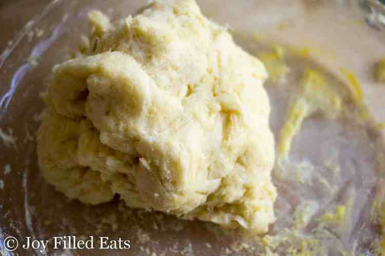 a ball of dough for the low carb maple bacon crack